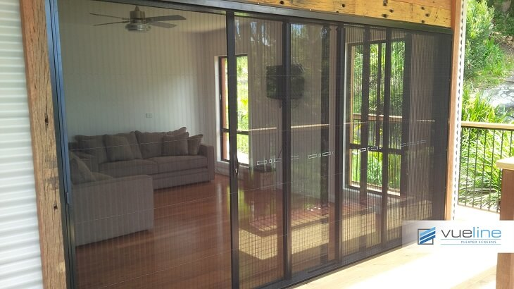 Vueline Pleated Screens Retractable Screen Door